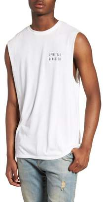 Spiritual Gangster Good Vibes Graphic Muscle Tank