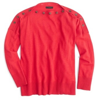 Women's J.crew Button Boatneck Sweater $79.50 thestylecure.com