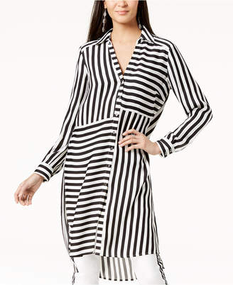 INC International Concepts I.n.c. Striped High-Low Tunic