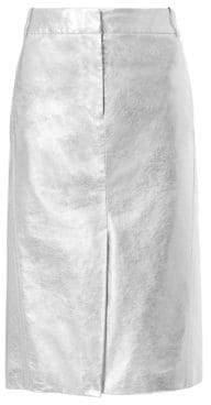 Tibi Metallic Trouser Midi Skirt