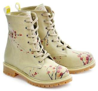 Goby Cherry Blossom Print Combat Boot