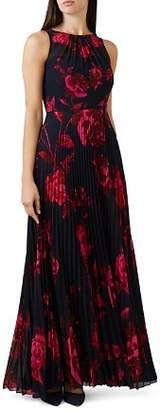 Hobbs London Talia Floral Pleated Maxi Dress
