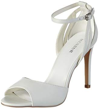 16e84da93e4 Off-White Menbur Wedding Women s Anaid Ankle Strap Sandals Size