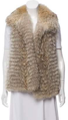 Yves Salomon Fur & Silk Vest