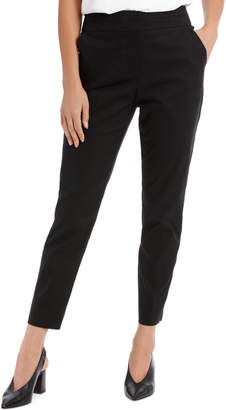Cotton Sateen Ankle Grazer Pant