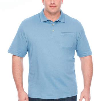 Van Heusen Flex Solid Tipped Polo Mens Short Sleeve Polo Shirt Big and Tall