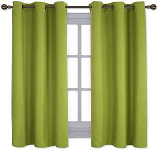 NICETOWN Thermal Insulated Solid Grommet Top Blackout Curtains/Drapes for Kid's Room (1 Pair