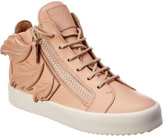 Giuseppe Zanotti Wings Leather High-Top Sneaker