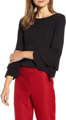 Anne Klein Double Flare Sleeve Sweater