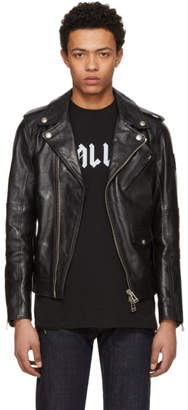 Belstaff Black Leather Sidmouth Biker Jacket