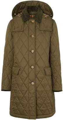 Burberry Detachable Hood Monogram Motif Quilted Coat