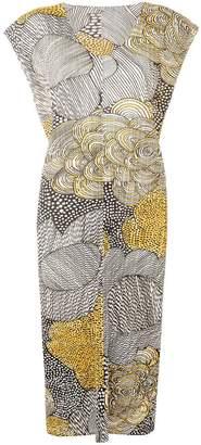 Pleats Please Issey Miyake pleated mid-calf dress