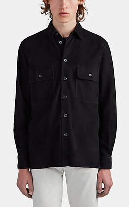 The Row Men's Johnny Suede Shirt Jacket - Black