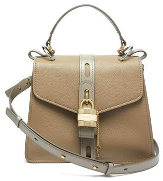 Chloé Aby Small Leather Shoulder Bag - Womens - Grey
