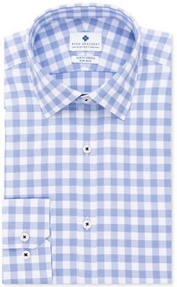 Ryan Seacrest Distinction Men's Ultimate Active Slim-Fit Non-Iron Performance Stretch Check Dress Shirt