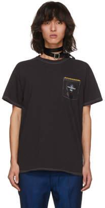 Toga Virilis Grey Graphic Pocket T-Shirt