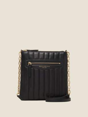DKNY Erin Quilted Leather North South Crossbody