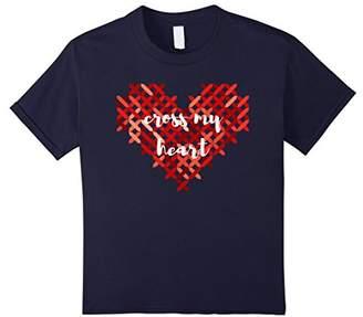 Cross My Heart Cross-stitch Heart T-shirt - Valentine's Day