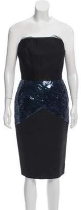 Victoria Beckham Structured Strapless Dress Black Structured Strapless Dress