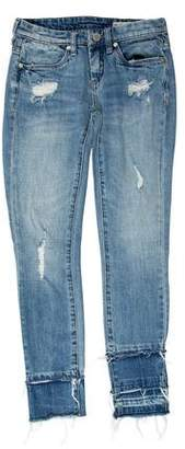 Blank NYC Distressed Low-Rise Skinny Jeans