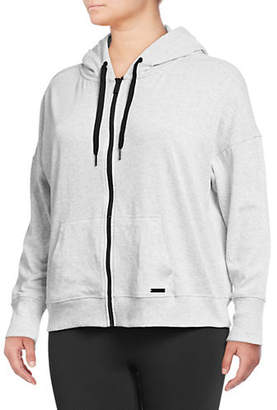 Calvin Klein Plus Plus Mesh Panel Back Full-Zip Hoodie