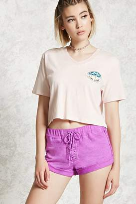 Forever 21 Lace-Up Cuffed Shorts