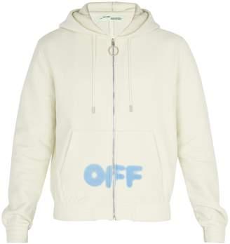 Off-White Blurred-logo hooded cotton sweatshirt