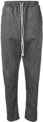Alchemy drop-crotch track trousers