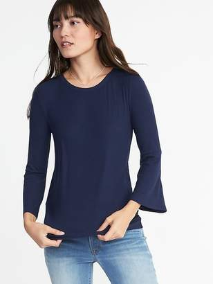 Old Navy Rib-Knit Bell-Sleeve Top for Women