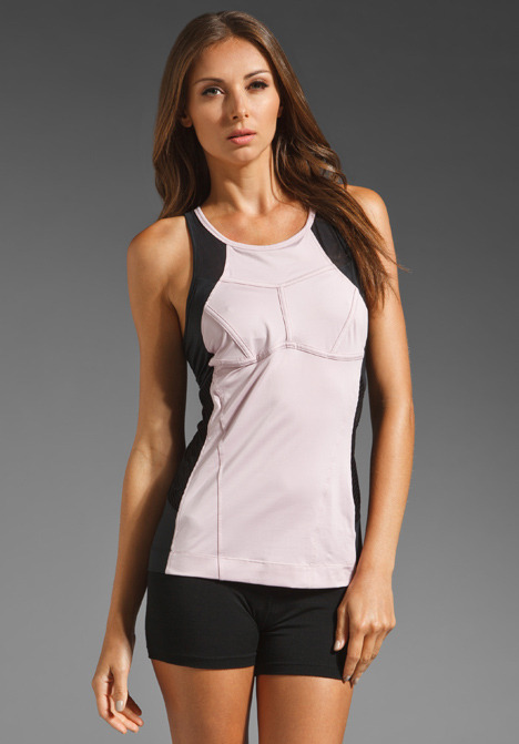 adidas by Stella McCartney Perfect Tank in Fair Pink/Black