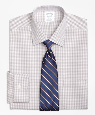 Brooks Brothers Regent Fitted Dress Shirt, Non-Iron Micro Check