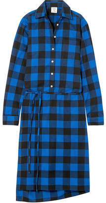 Vetements Checked Flannel Shirt Dress - Blue