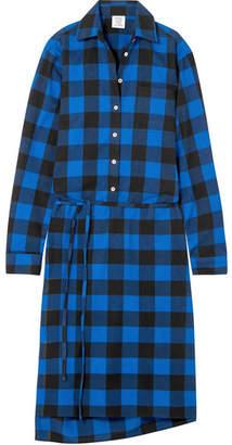 Vetements Checked Flannel Shirt Dress - Blue