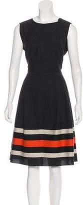 Salvatore Ferragamo Striped Knee-Length Dress