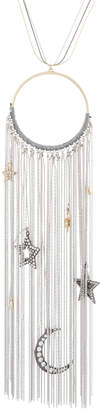Lydell NYC Long Round Pendant Necklace w/ Celestial Charms