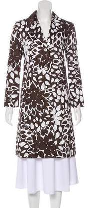 Genny Printed Knee-Length Coat w/ Tags