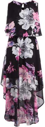 Sequin Hearts Big Girls Floral-Print Popover Maxi Dress