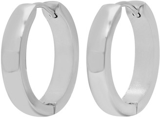 Steel By Design Stainless Steel Hoop Earrings