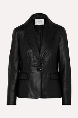 Frame Schoolboy Leather Blazer - Black