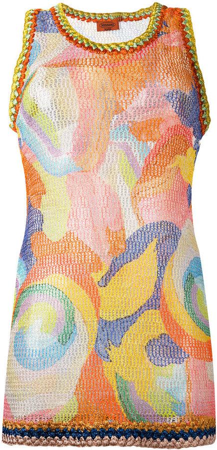 MissoniMissoni patterned knit tank top
