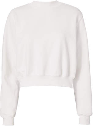 Cotton Citizen The Milan Cropped White Sweatshirt