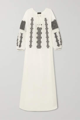 Nili Lotan Valenza Embroidered Cotton-voile Maxi Dress - White