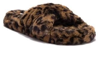 Steve Madden Crissy Faux Fur Criss Cross Slipper