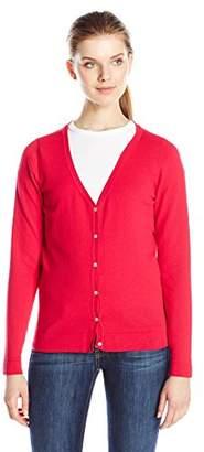 Dockers Women's V-Neck Cardigan Sweater $11.48 thestylecure.com