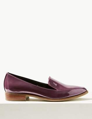 Marks and Spencer Leather Patent Loafers