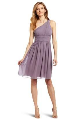 Donna Morgan Women's Rhea Short One Shoulder Dress