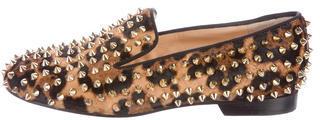 Christian Louboutin Christian Louboutin Ponyhair Rolling Spike Loafers