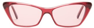 Cat Eye Andy Wolf Tinted Sunglasses - Womens - Red