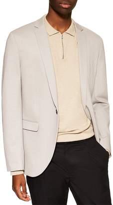 Topman Skinny Fit Jersey Blazer