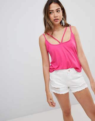 Missguided harness strap tank top